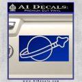 Lego Space Flag Decal Sticker Blue Vinyl 120x120