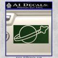 Lego Space Flag Decal Sticker Dark Green Vinyl 120x120