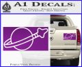 Lego Space Flag Decal Sticker Purple Vinyl 120x97