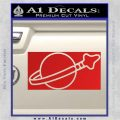 Lego Space Flag Decal Sticker Red Vinyl 120x120
