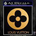 Louis Vuitton CR Decal Sticker Metallic Gold Vinyl 120x120