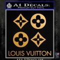 Louis Vuitton D4 Decal Set Sticker Metallic Gold Vinyl 120x120