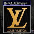 Louis Vuitton Logo D1 Decal Sticker Metallic Gold Vinyl 120x120