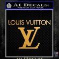 Louis Vuitton Logo D2 Decal Sticker Metallic Gold Vinyl Vinyl 120x120