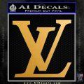 Louis Vuitton Logo D3 Decal Sticker Metallic Gold Vinyl Vinyl 120x120