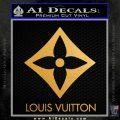 Louis Vuitton SQ Decal Sticker Metallic Gold Vinyl Vinyl 120x120
