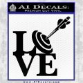 Love Archery SQ Decal Sticker Black Logo Emblem 120x120