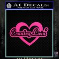 Love Country Living Decal Sticker Hot Pink Vinyl 120x120