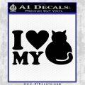 Love My Cat Decal Sticker Black Logo Emblem 120x120