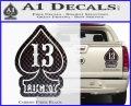 Lucky 13 D3 Decal Sticker Carbon Fiber Black 120x97