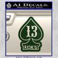 Lucky 13 D3 Decal Sticker Dark Green Vinyl 120x120
