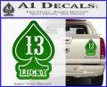 Lucky 13 D3 Decal Sticker Green Vinyl 120x97