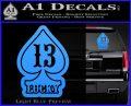 Lucky 13 D3 Decal Sticker Light Blue Vinyl 120x97