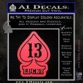 Lucky 13 D3 Decal Sticker Pink Vinyl Emblem 120x120