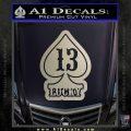 Lucky 13 D3 Decal Sticker Silver Vinyl 120x120