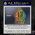 Lucky 13 D3 Decal Sticker Sparkle Glitter Vinyl 120x120
