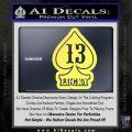 Lucky 13 D3 Decal Sticker Yelllow Vinyl 120x120