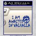 Mad Max Fury Road Valhalla Decal Sticker Blue Vinyl 120x120