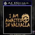 Mad Max Fury Road Valhalla Decal Sticker Metallic Gold Vinyl 120x120