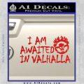 Mad Max Fury Road Valhalla Decal Sticker Red Vinyl 120x120