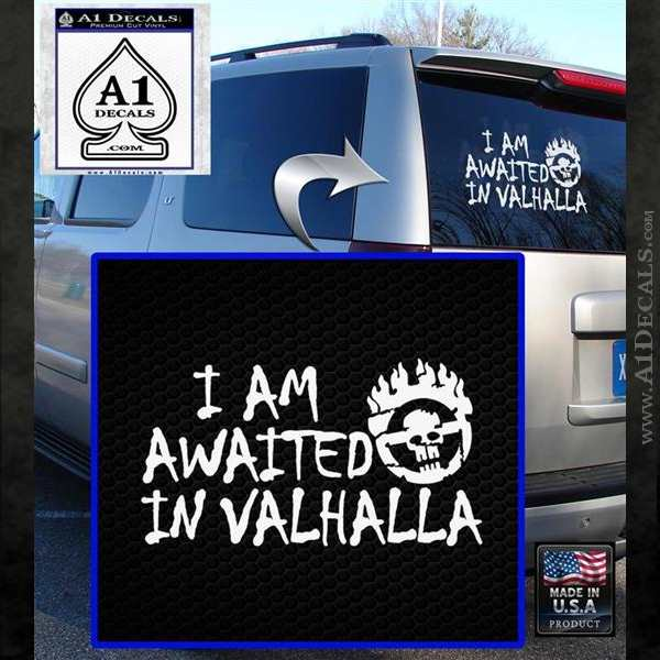 Mad Max Fury Road Valhalla Decal Sticker White Emblem