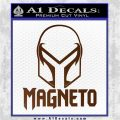 Magneto Helmet D1 Decal Sticker Brown Vinyl 120x120