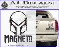 Magneto Helmet D1 Decal Sticker Carbon Fiber Black 120x97