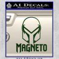 Magneto Helmet D1 Decal Sticker Dark Green Vinyl 120x120
