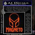Magneto Helmet D1 Decal Sticker Orange Vinyl Emblem 120x120