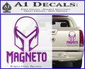 Magneto Helmet D1 Decal Sticker Purple Vinyl 120x97