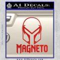 Magneto Helmet D1 Decal Sticker Red Vinyl 120x120