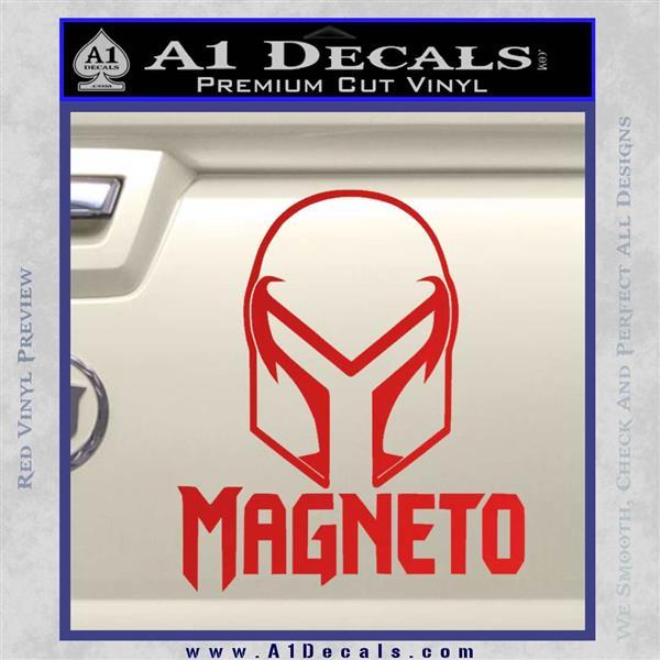 Magneto Helmet D1 Decal Sticker Red Vinyl