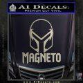 Magneto Helmet D1 Decal Sticker Silver Vinyl 120x120