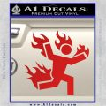 Man on Fire Stuntman Decal Sticker Red Vinyl 120x120