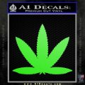 Marijuana Leaf DN Decal Sticker Lime Green Vinyl 120x120