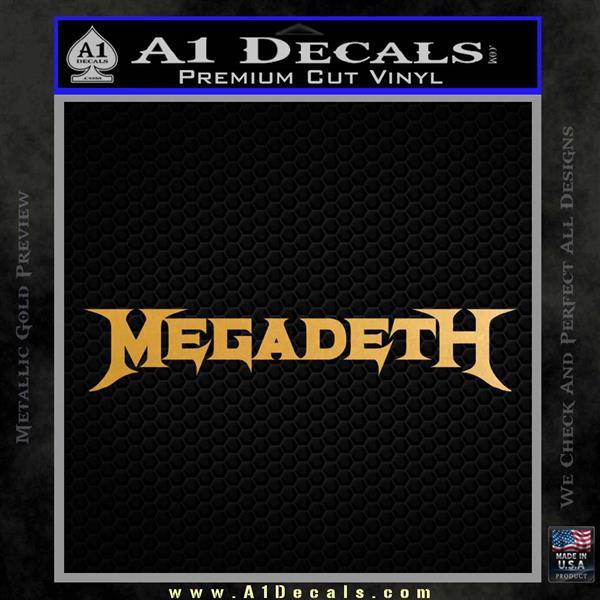 Megadeth Rock Band Vinyl Decal Sticker Metallic Gold Vinyl Vinyl