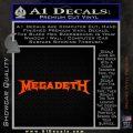 Megadeth Rock Band Vinyl Decal Sticker Orange Vinyl Emblem 120x120