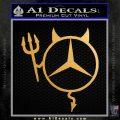 Mercedes Devil Decal Sticker Metallic Gold Vinyl Vinyl 120x120
