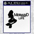 Mermaid Love Decal Sticker DZA Black Logo Emblem 120x120