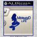 Mermaid Love Decal Sticker DZA Blue Vinyl 120x120