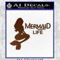Mermaid Love Decal Sticker DZA Brown Vinyl 120x120