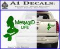 Mermaid Love Decal Sticker DZA Green Vinyl 120x97