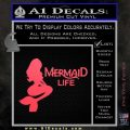 Mermaid Love Decal Sticker DZA Pink Vinyl Emblem 120x120