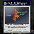Mermaid Love Decal Sticker DZA Sparkle Glitter Vinyl 120x120