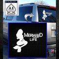 Mermaid Love Decal Sticker DZA White Emblem 120x120