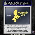 Mermaid Love Decal Sticker DZA Yelllow Vinyl 120x120