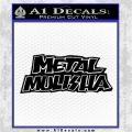 Metal Mulisha TXT Decal Sticker Black Logo Emblem 120x120
