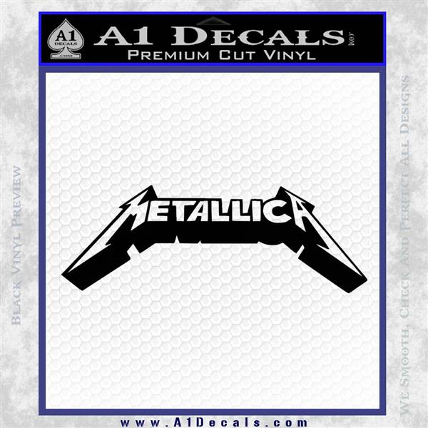 Metallica New Wide Decal Sticker Black Logo Emblem