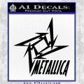 Metallica Ninja Star TXT Decal Sticker Black Logo Emblem 120x120