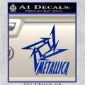 Metallica Ninja Star TXT Decal Sticker Blue Vinyl 120x120